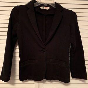H&M Girls Black Blazer - Size 9-10Y